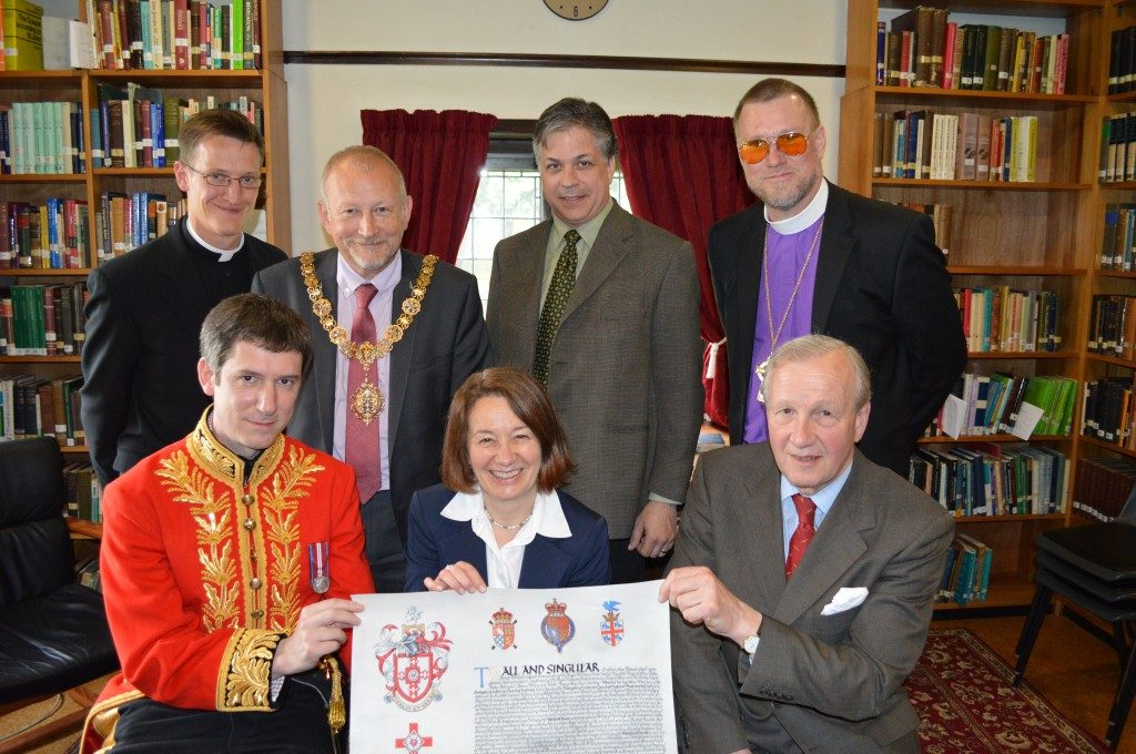 Westfield House received Letters Patent granting its Arms, Crest and Badge at a presentation ceremony on 22 April 2014 in the same library where Bishop Bo Giertz had delivered the inaugural lecture 52 years earlier.